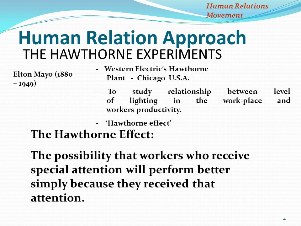 principles and practices of management and organizational behavior  4 the hawthorne experiments