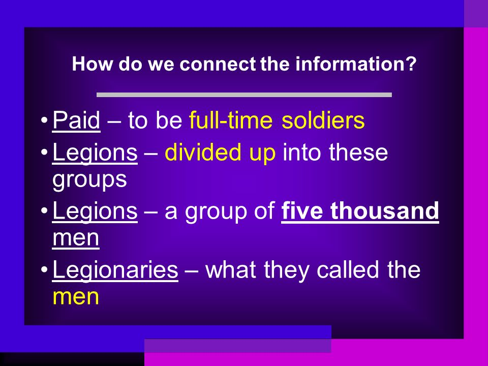 How do we connect the information