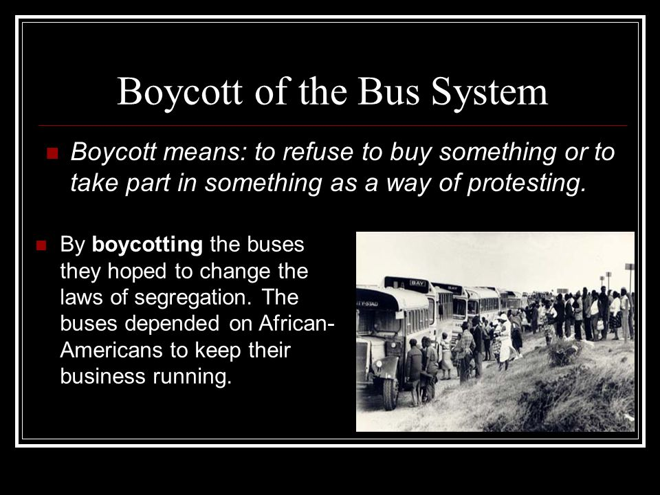 Boycott of the Bus System
