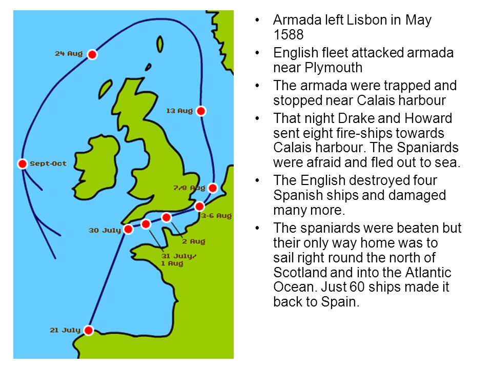 Armada left Lisbon in May 1588