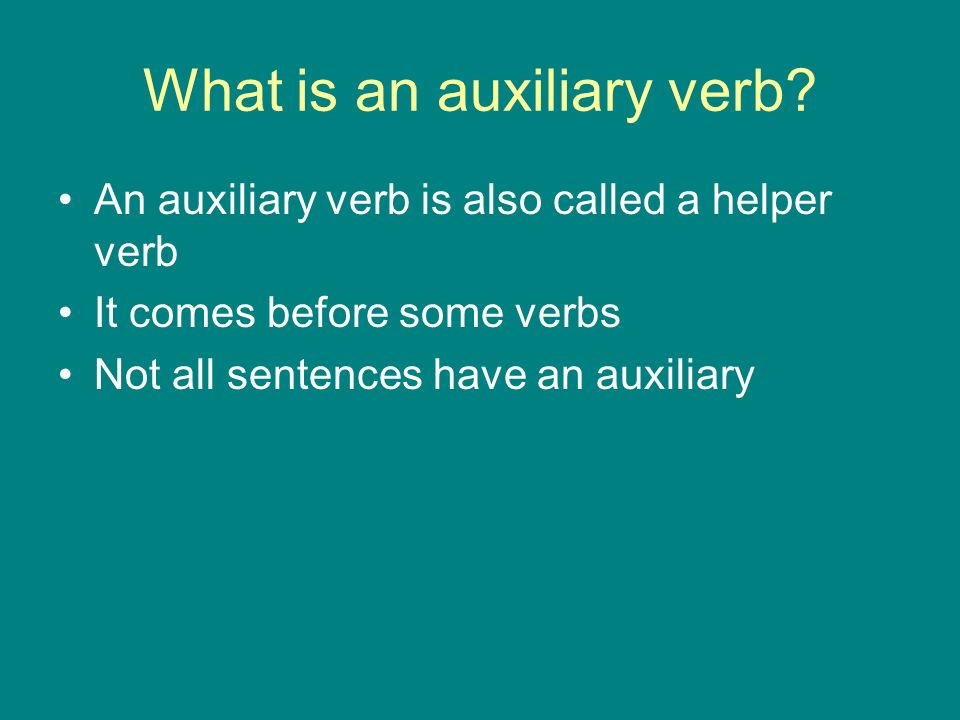 What is an auxiliary verb