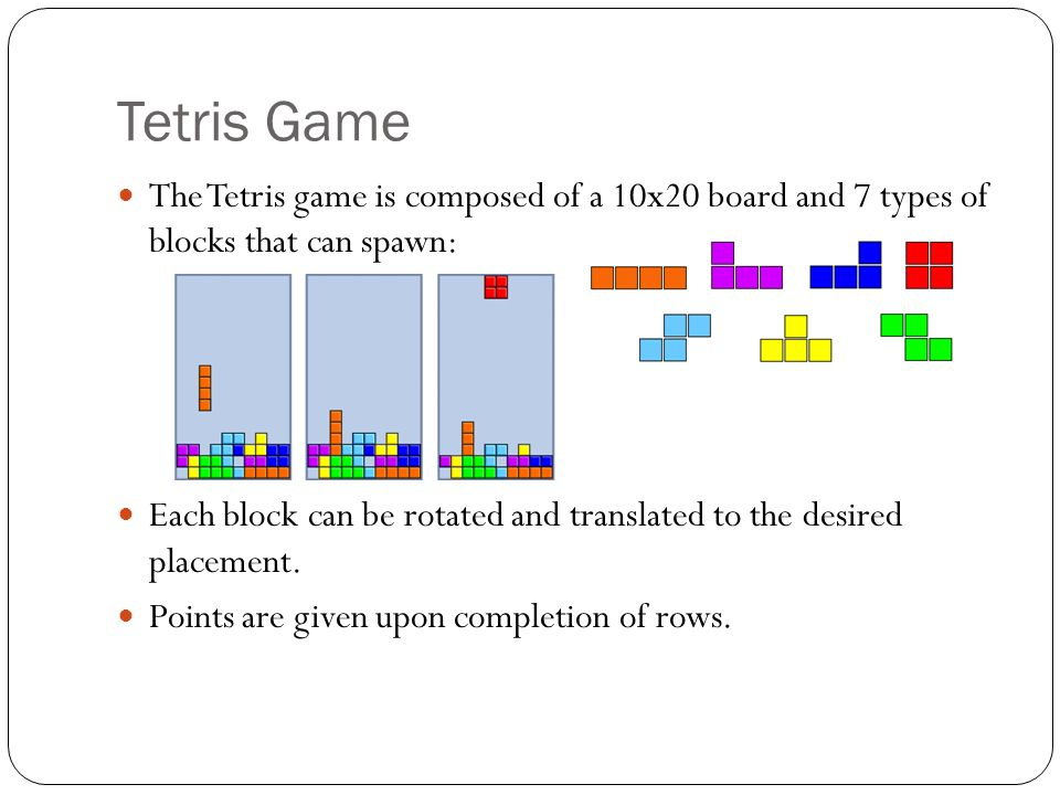 Reinforcement learning for the game of tetris using cross entropy 2 tetris ccuart Gallery