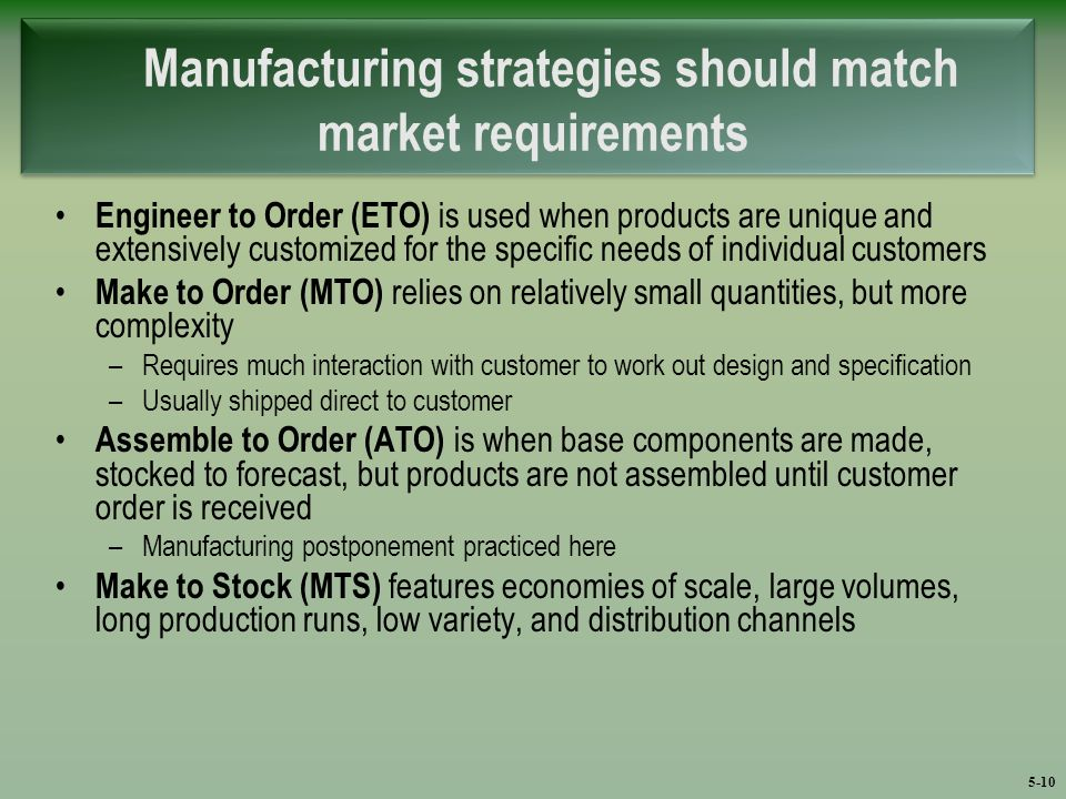 Engineering Marketing Strategies : Chapter manufacturing ppt video online download