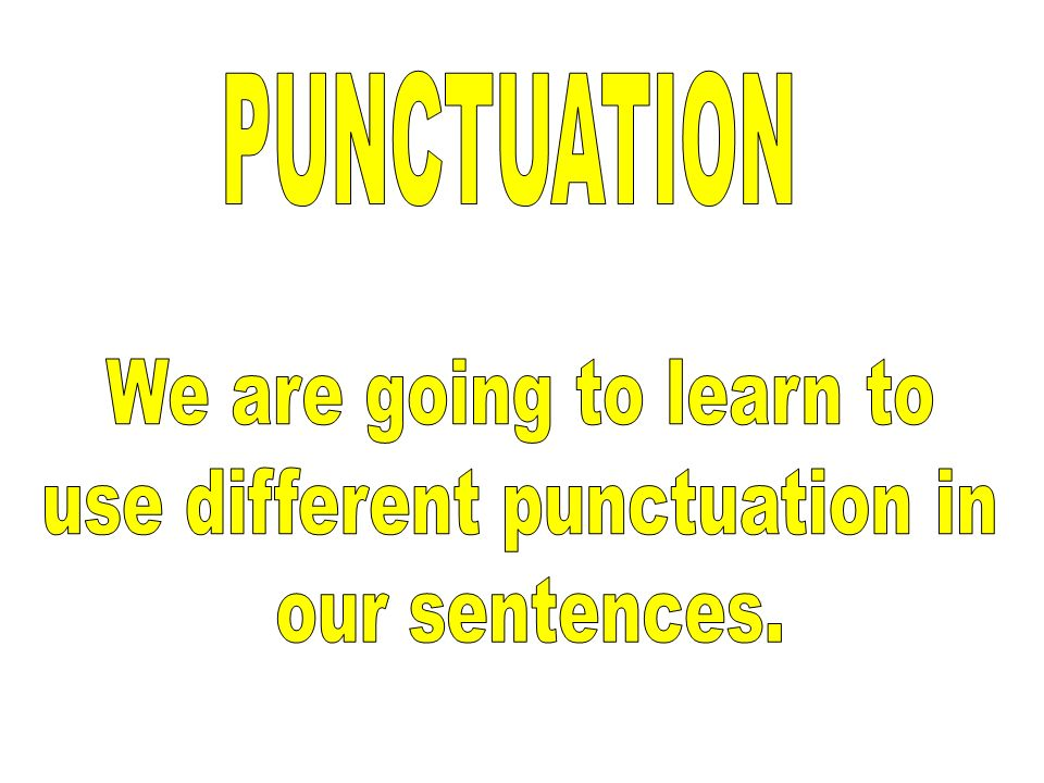 use different punctuation in
