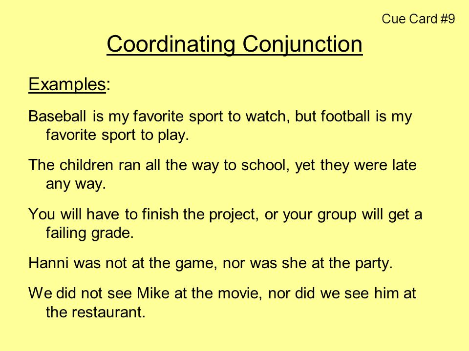 Coordinating Conjunction Example] Coordinating Conjunctions, 2 ...
