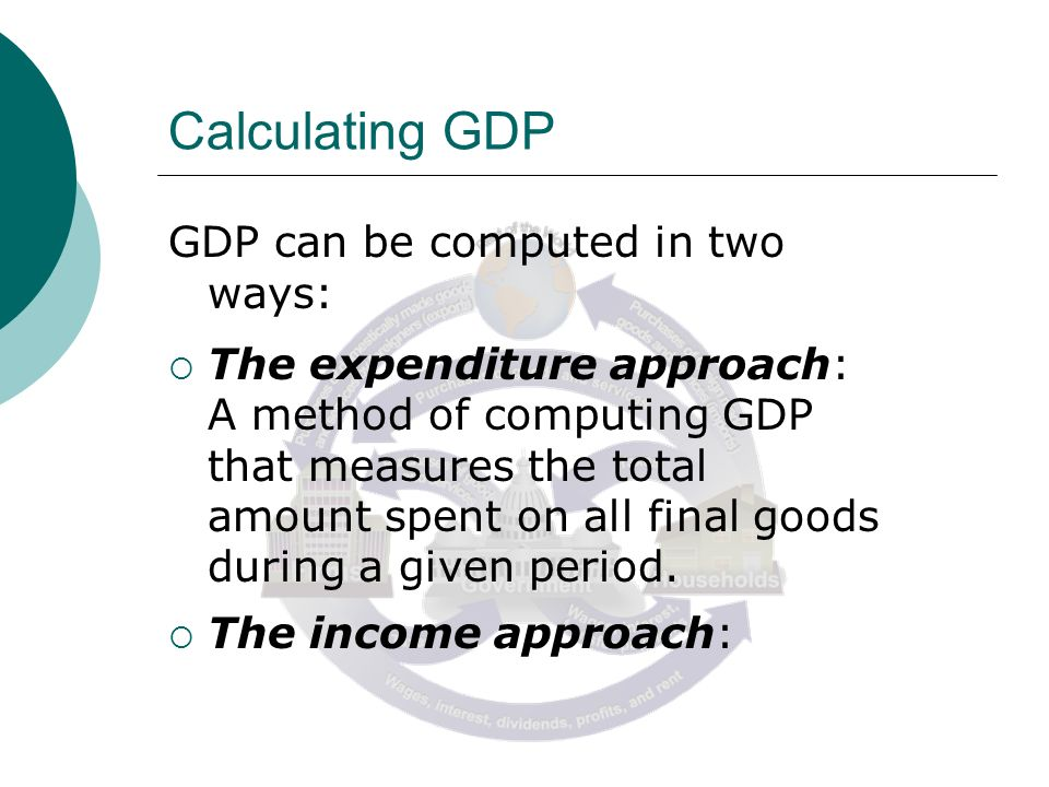 calculating gdp and national income of the us Gross domestic product  product to gross national income  indicators of the system of national accounts compilation of gdp at constant prices is important.