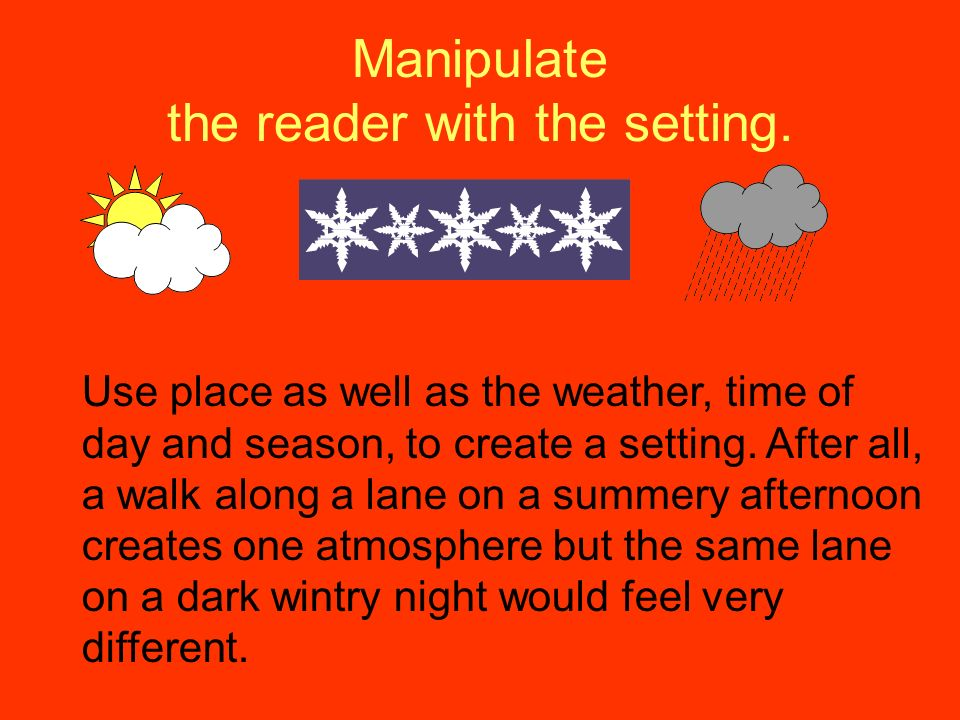 Manipulate the reader with the setting.