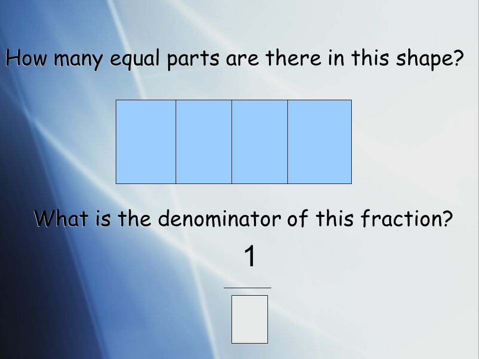 How many equal parts are there in this shape