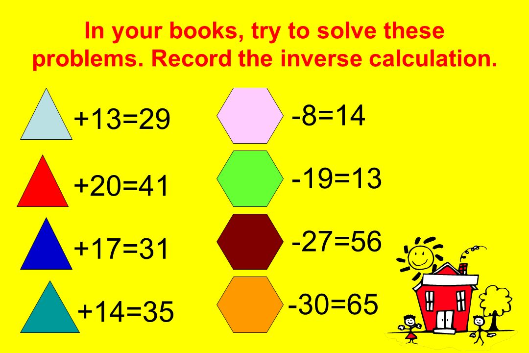 In your books, try to solve these problems