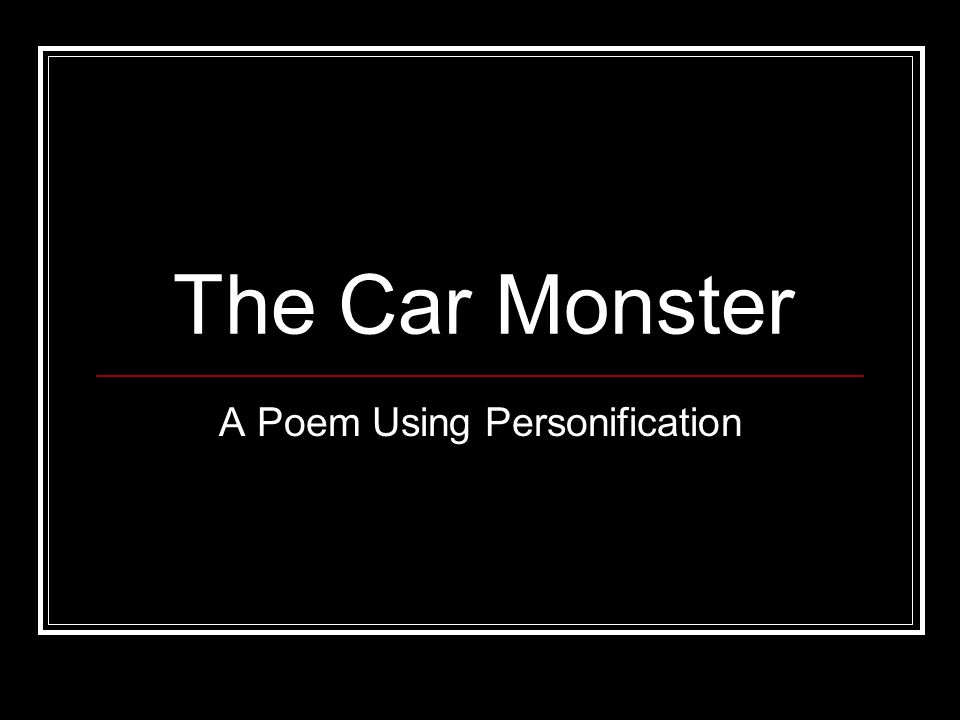 A Poem Using Personification