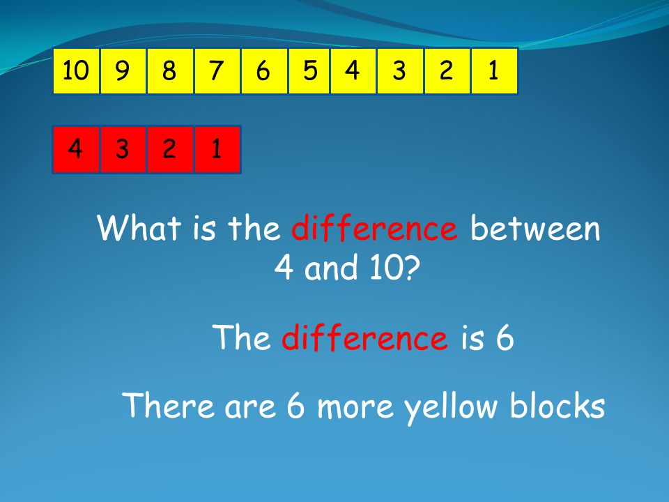 What is the difference between 4 and 10
