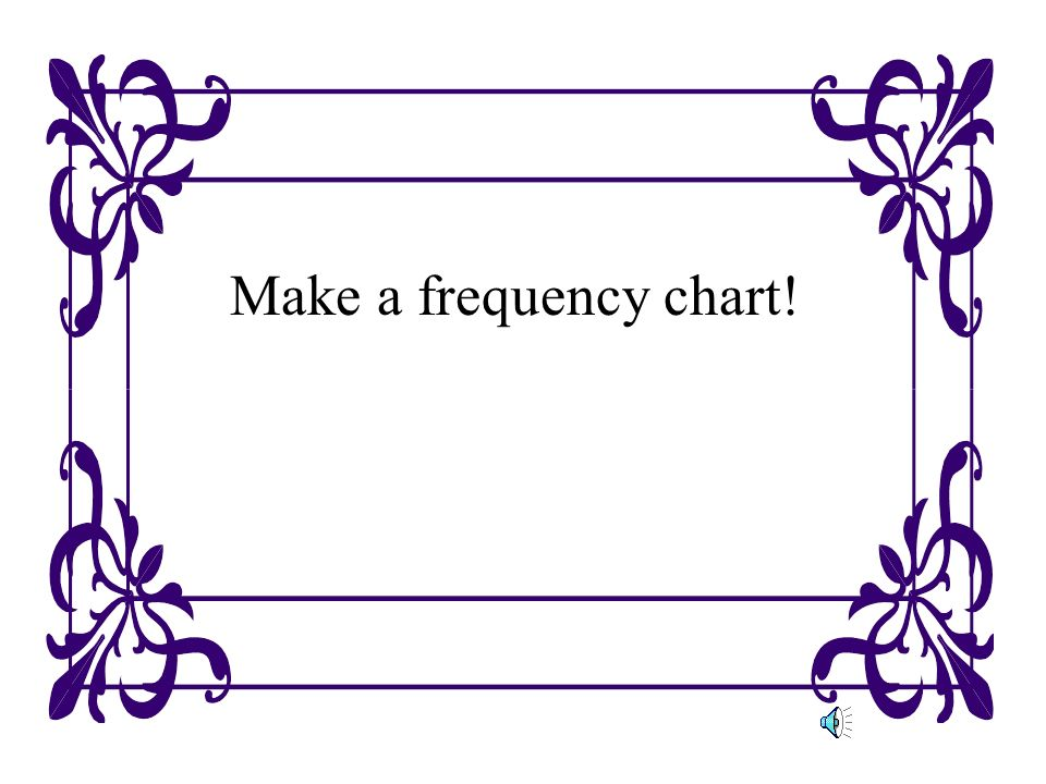 Make a frequency chart!