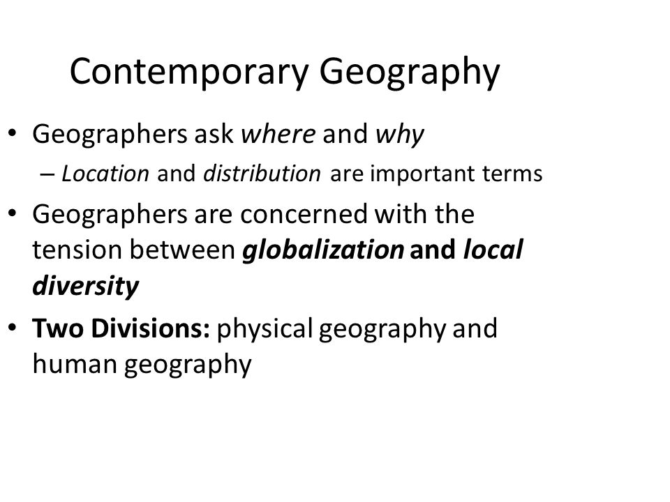contemporary world geography At first sight religion and geography have little in common with  meaning in his world,  whilst religion is not a central theme in contemporary geography,.