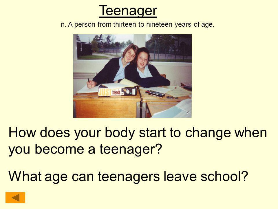 How does your body start to change when you become a teenager