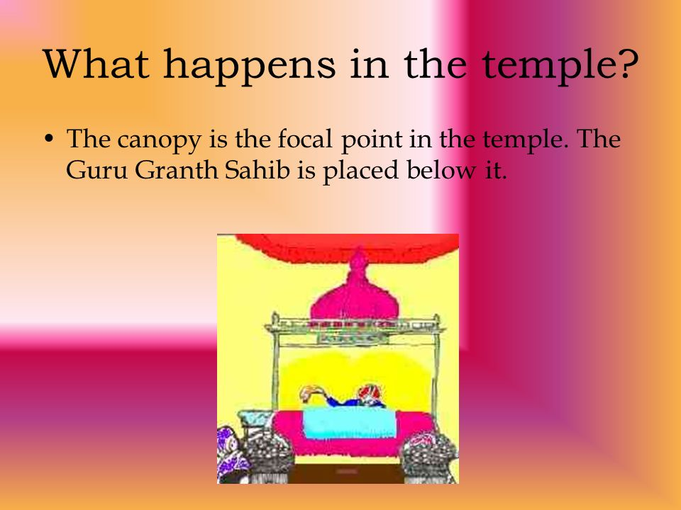 What happens in the temple
