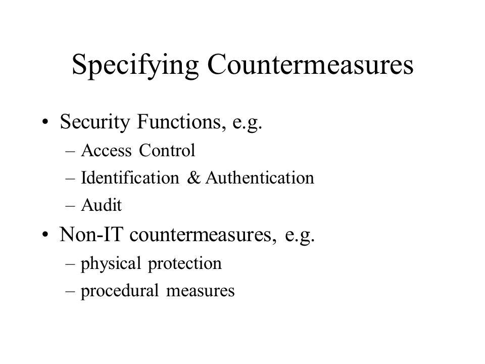 Specifying Countermeasures