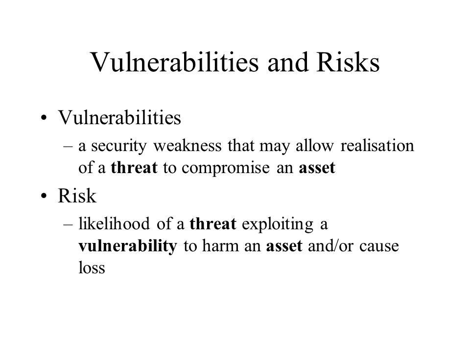 Vulnerabilities and Risks