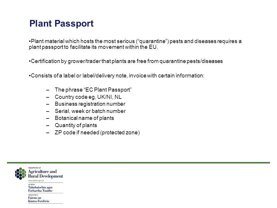 Plant Passport
