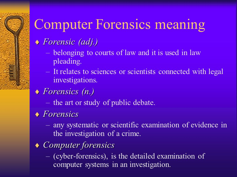 the importance of computer forensics in the event of a cyber incident One important facet of a forensics investigation is to provide some  could fail to  recognize important system security remediation items and be left  and gathers  data from identified devices (or in select cases may be able to.