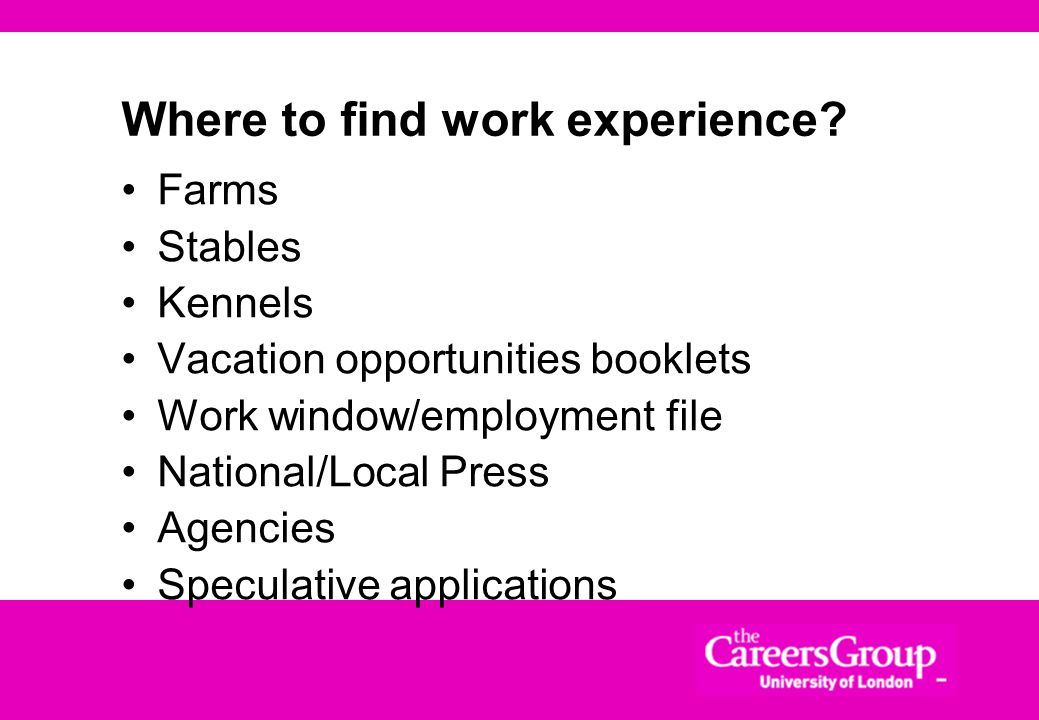 Where to find work experience