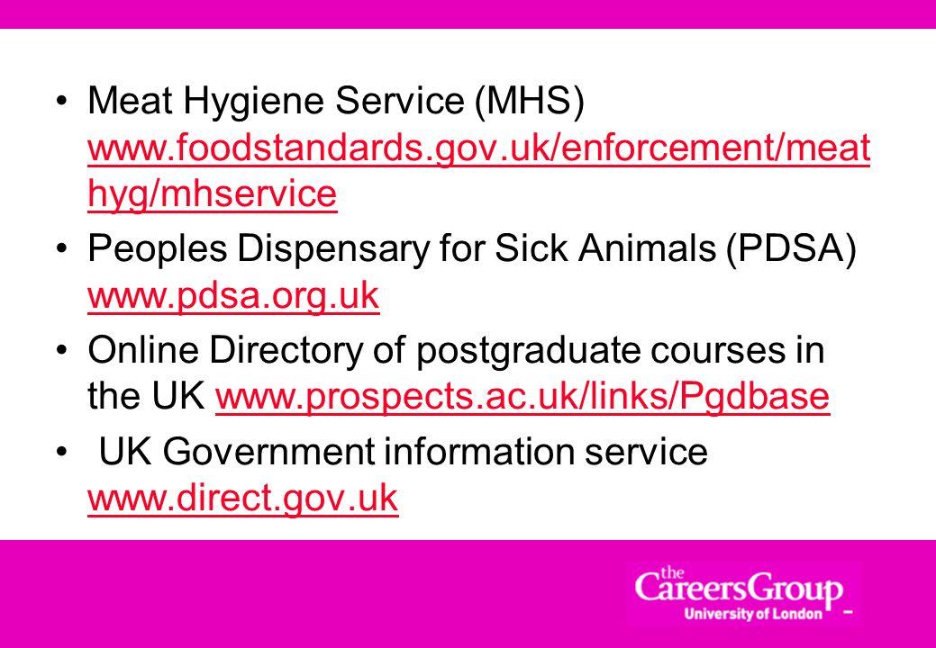 Meat Hygiene Service (MHS) www. foodstandards. gov