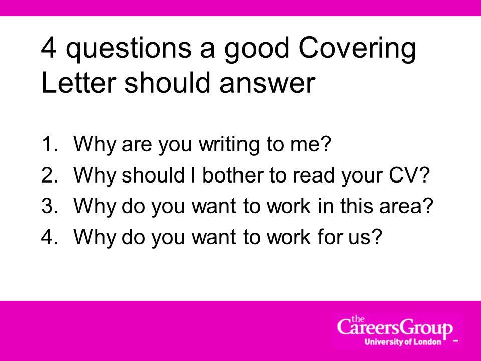 4 questions a good Covering Letter should answer