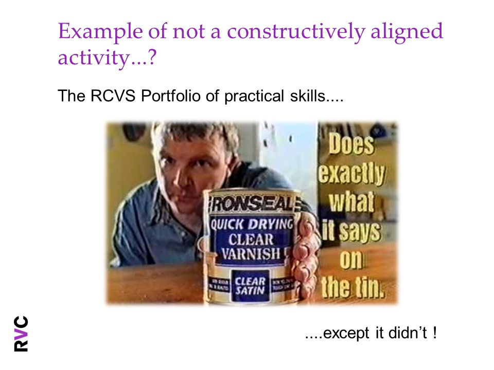 Example of not a constructively aligned activity...