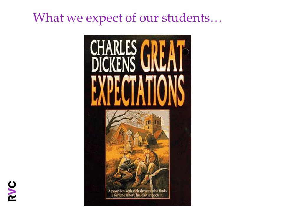 What we expect of our students…