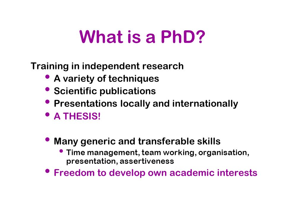 What is a PhD Training in independent research