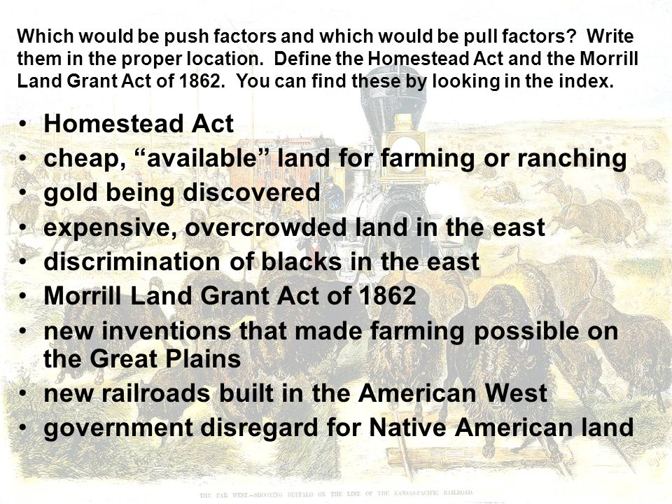The west after the civil war ppt video online download for Where to buy cheap land for homesteading