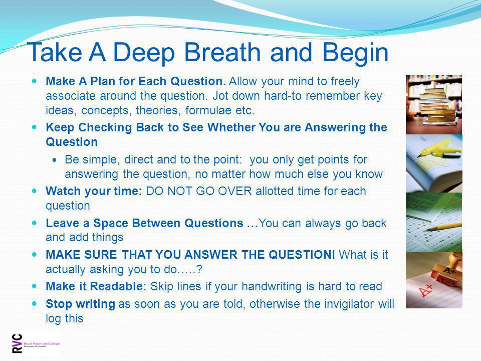 Take A Deep Breath and Begin