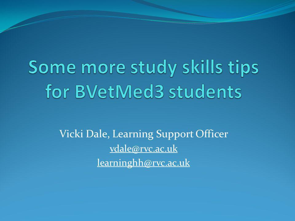 Some more study skills tips for BVetMed3 students