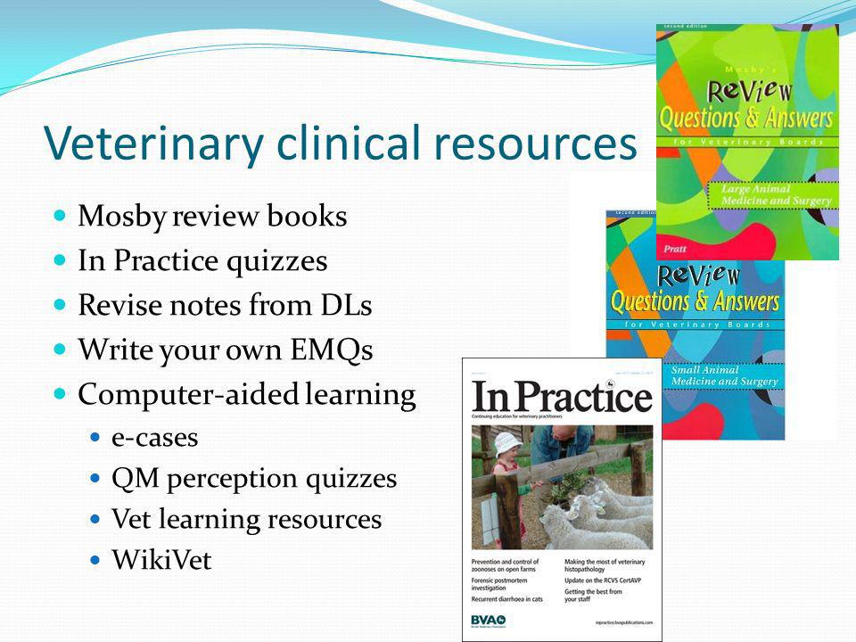 Veterinary clinical resources