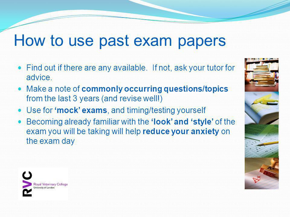 How to use past exam papers