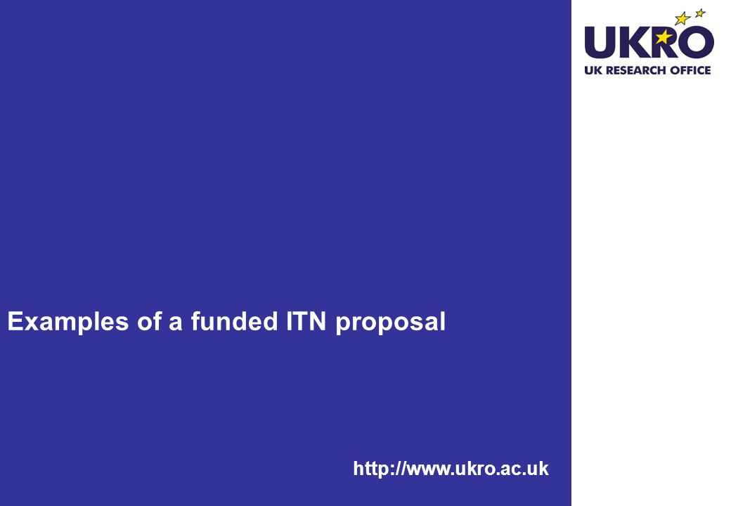 Examples of a funded ITN proposal
