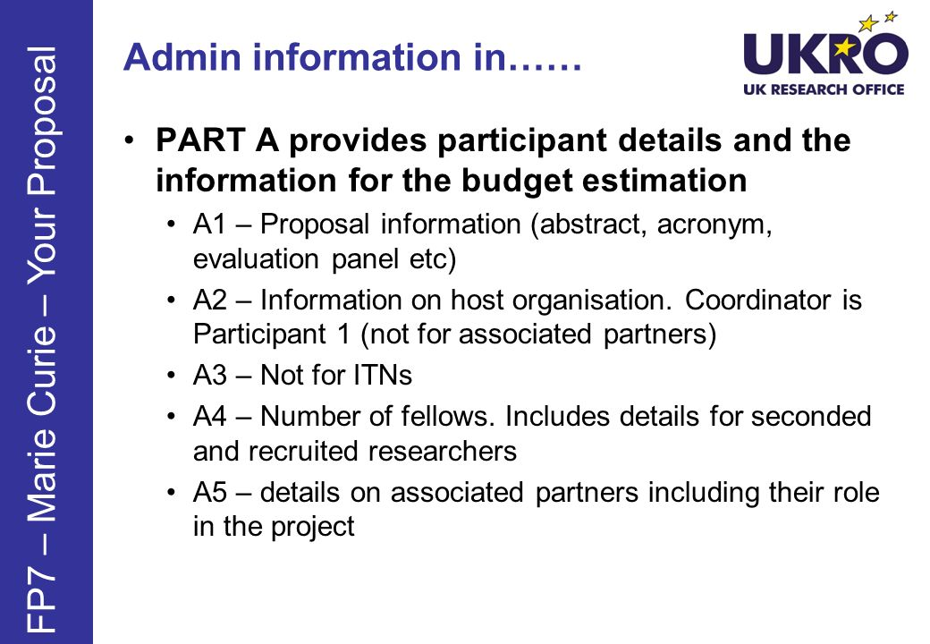 Admin information in……