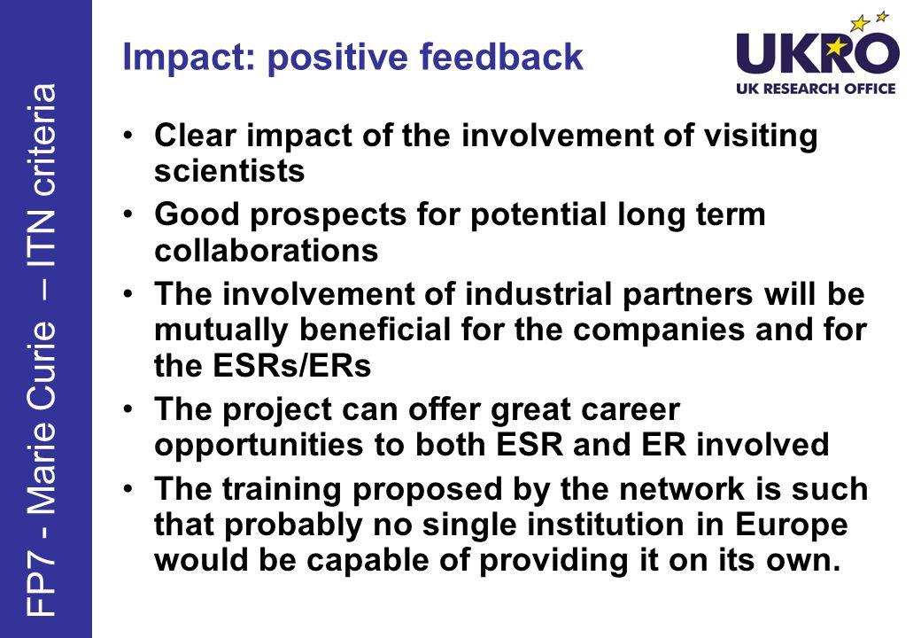 Impact: positive feedback