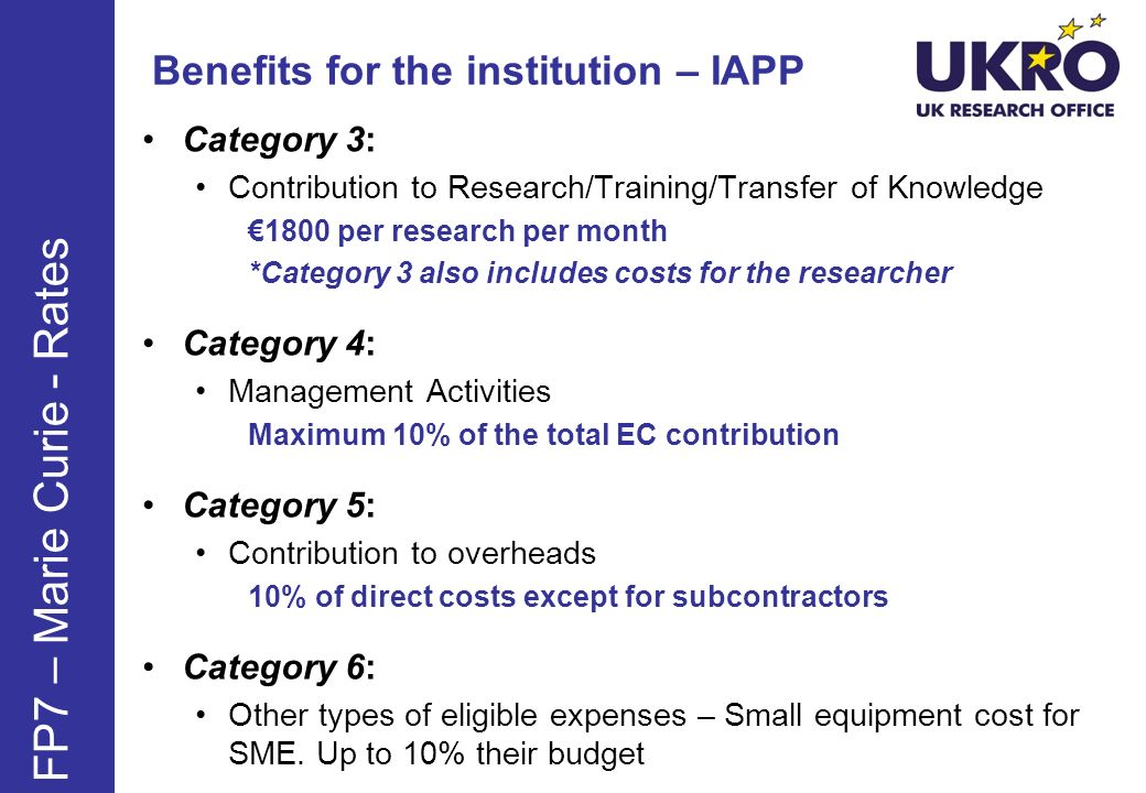 Benefits for the institution – IAPP