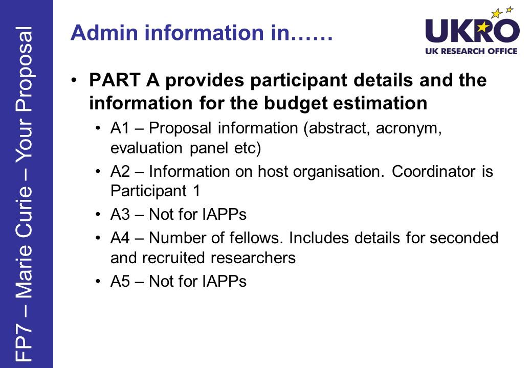 Admin information in……