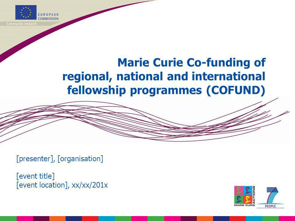 Marie Curie Co-funding of regional, national and international fellowship programmes (COFUND)