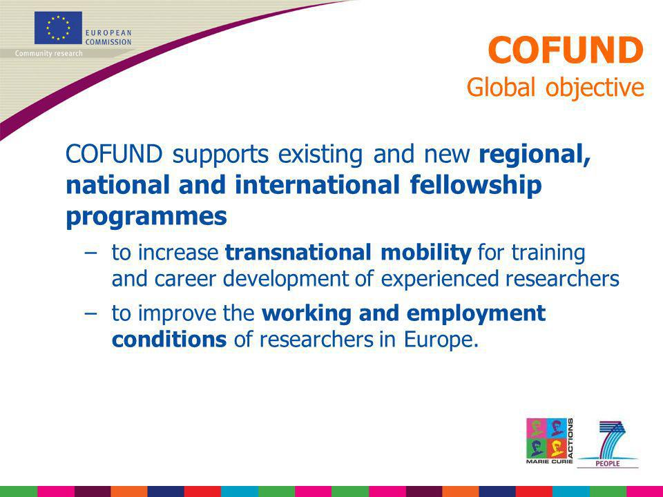 COFUND Global objective