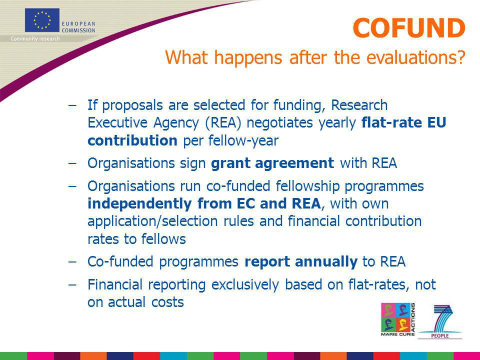 COFUND What happens after the evaluations