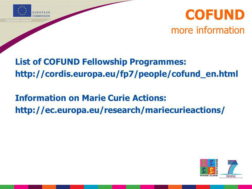 COFUND more information