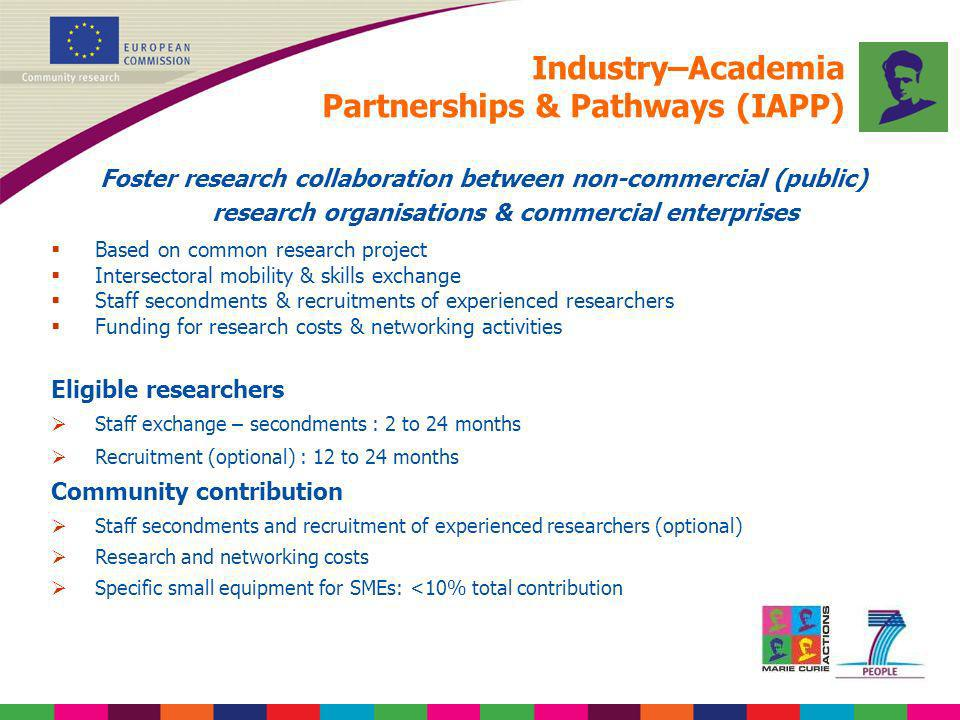 Industry–Academia Partnerships & Pathways (IAPP)