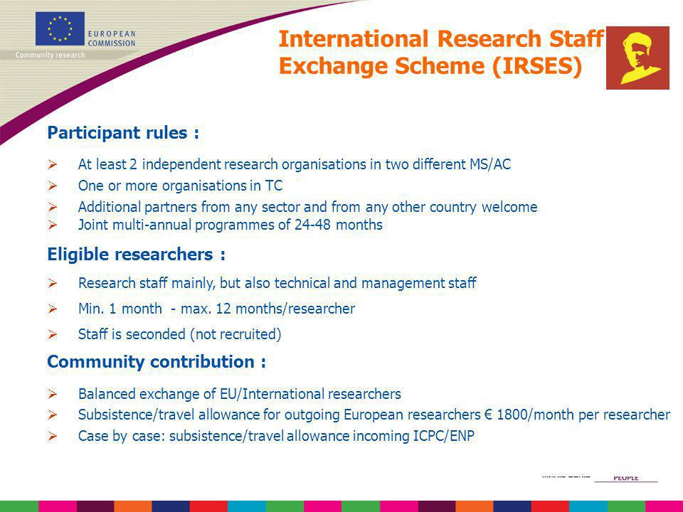 International Research Staff Exchange Scheme (IRSES)