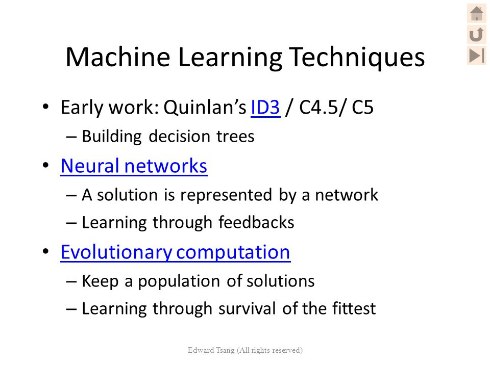 machine learning technique