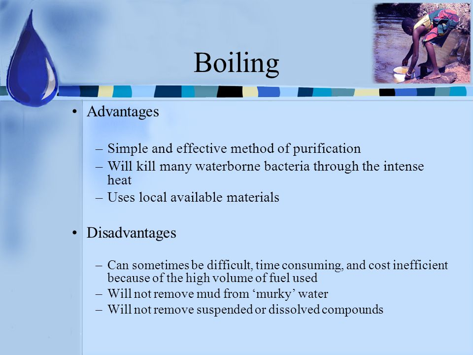 Boiling Advantages Disadvantages