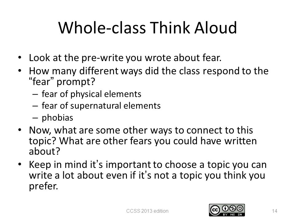 """Thinking aloud"" and teaching the writing process"