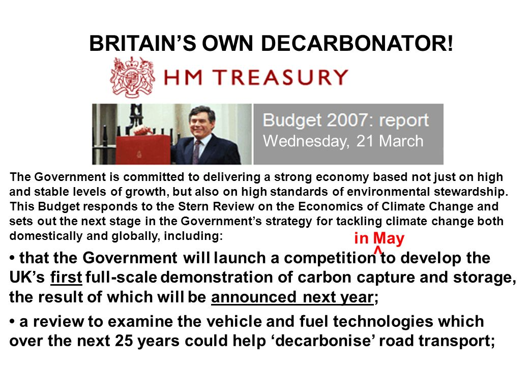 BRITAIN'S OWN DECARBONATOR!