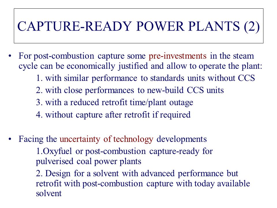 CAPTURE-READY POWER PLANTS (2)